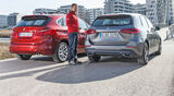 Mercedes B200d, BMW 218d Active Tourer