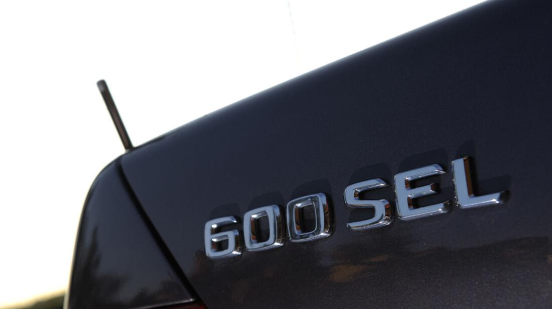Mercedes-Benz 600 SEL, W 140, Baujahr 1992 Schriftzug