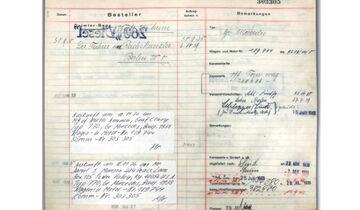 Mercedes-Benz 770K 1939 Fuhrpark Hitler Auktion Dokument
