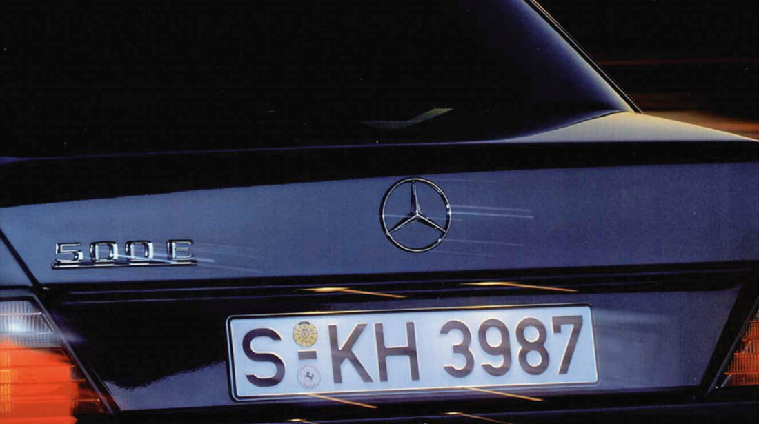 Mercedes-Benz E 500, Heck