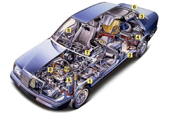 Mercedes-Benz E 500, Igelbild, Schwachstellen