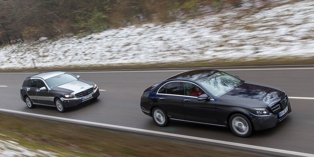 Mercedes C-Klasse, Seitenansicht, Probefahrt