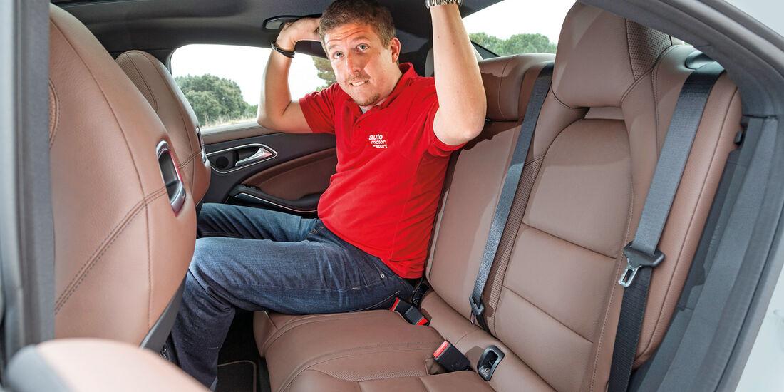 Mercedes CLA 220 CDI, Rücksitz, Kopfraum