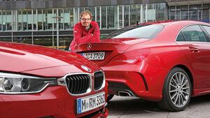 Mercedes CLA 250, BMW 328i, Sebstaian Renz