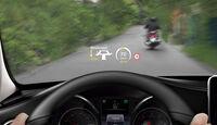 Mercedes Comand Online, Frontscheibe