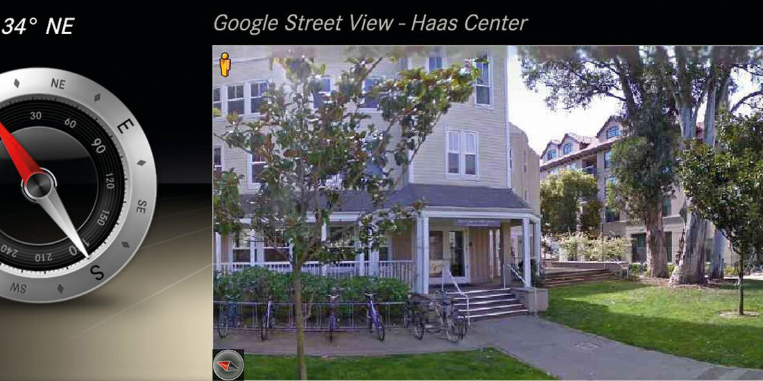 Mercedes Comand Online, Google Street View