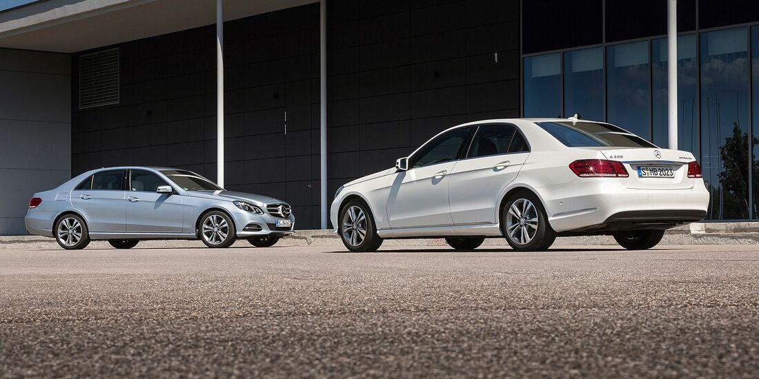 Mercedes E 200 Natrural Gas Drive und Mercedes 220 Bluetec BlueEfficiency Edition