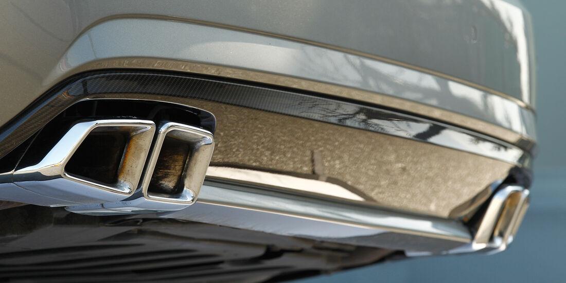 Mercedes E 63 AMG, Auspuff, Endrohre
