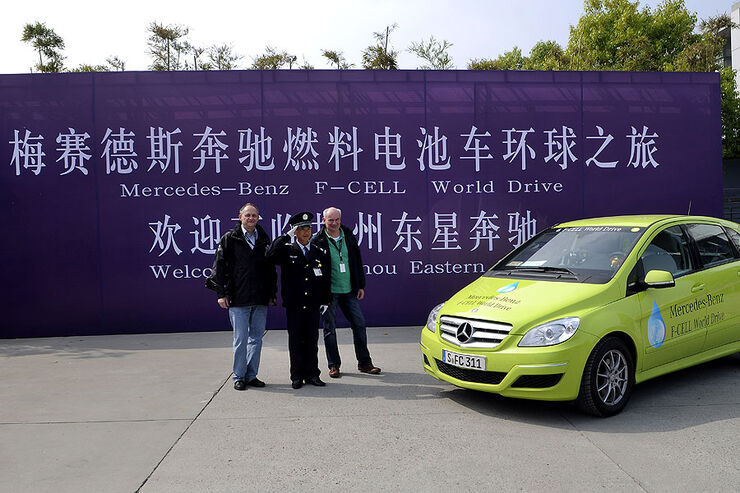 Mercedes F-Cell World Drive, 39. Etappe, China, Shanghai - Huaian