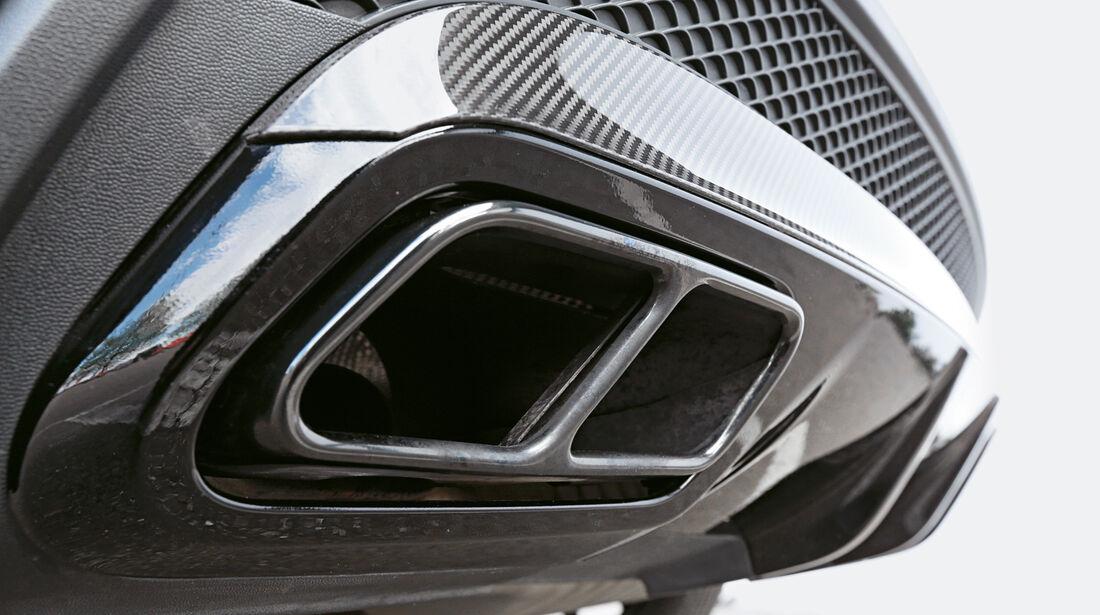 Mercedes GLA 45 AMG, Auspuff, Endrohr