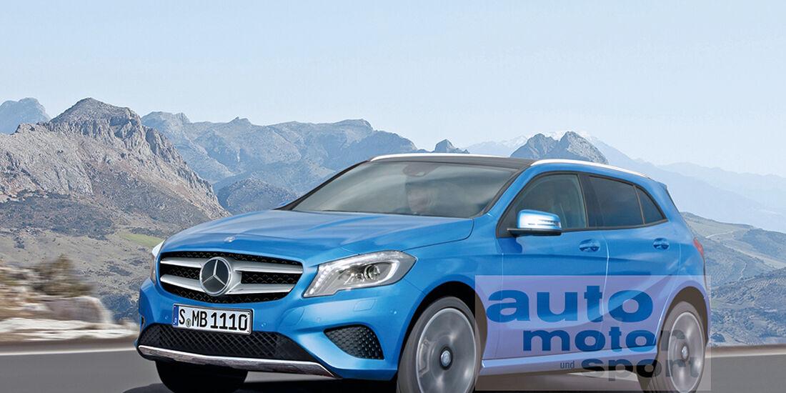 Mercedes GLA, Retusche