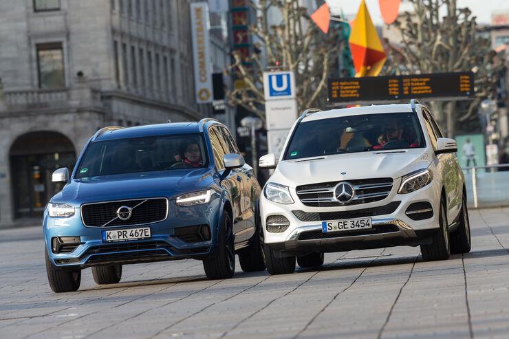 Mercedes Gle 500e : vergleich mercedes gle 500 e 4matic und volvo xc90 t8 awd auto motor und sport ~ Medecine-chirurgie-esthetiques.com Avis de Voitures