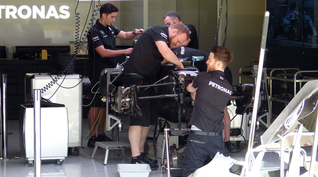 Mercedes - GP Spanien - Barcelona - Donnerstag - 7.5.2015