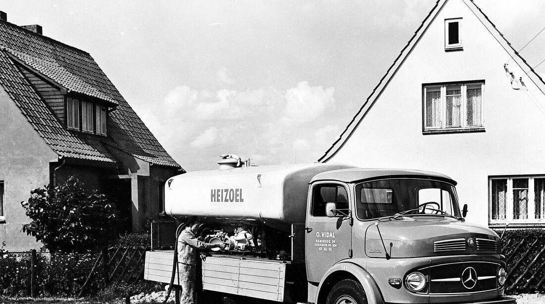 Mercedes Kurzhauber Heizöl Transport