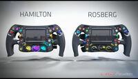 Mercedes-Lenkrad 2014 - Rosberg & Hamilton - Piola F1
