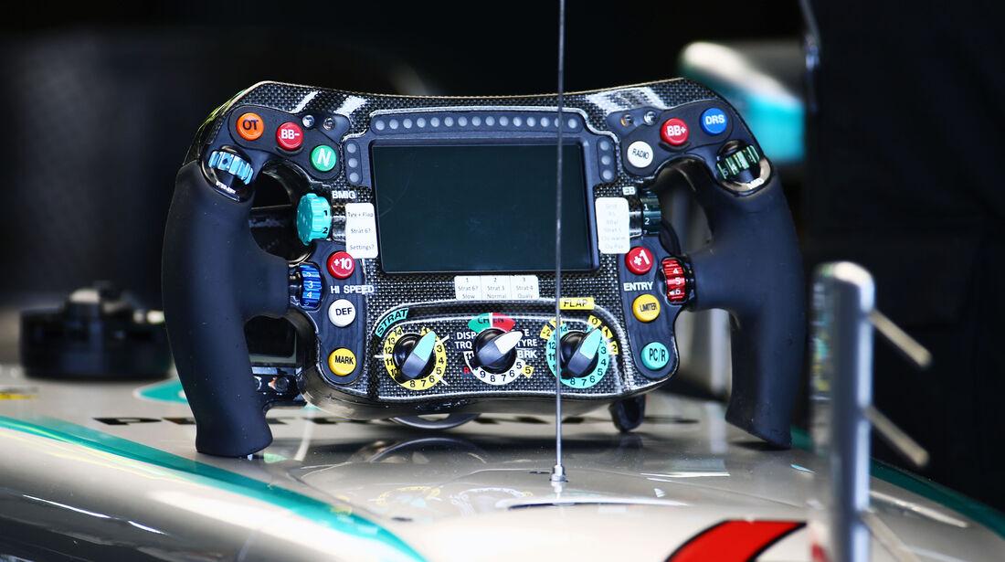 Mercedes-Lenkrad - GP Deutschland - Formel 1 - 29. Juli 2016