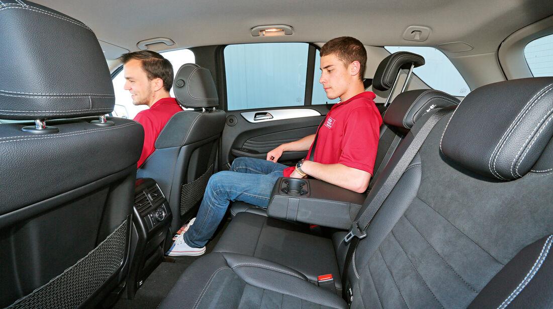 Mercedes ML 350 Bluetec, Rücksitz, Beinfreiheit