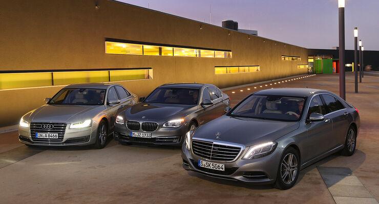 Mercedes S Klasse Gegen Audi A8 Und Bmw 7er Oberklasse Im Test