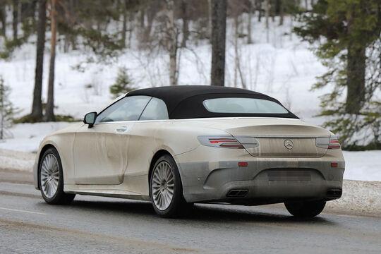 Mercedes S-Klasse Cabrio Facelift Erlkönig