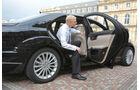 Mercedes S-Klasse, Fondtür, Einstieg, Ausstieg