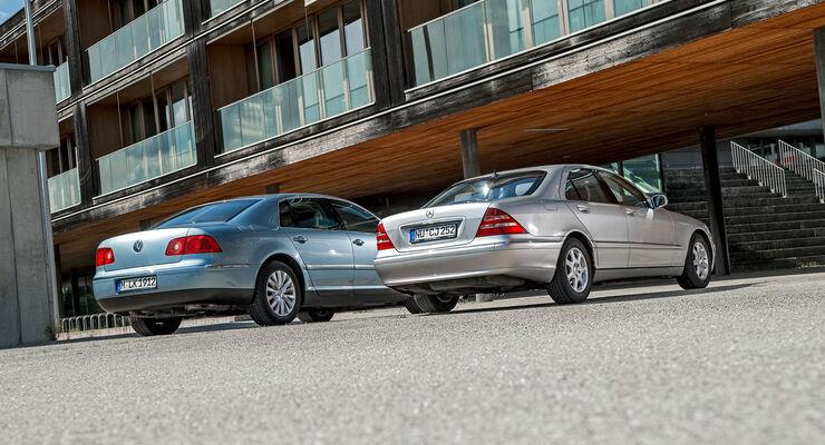Mercedes S-Klasse W 220 vs VW Phaeton Typ D1 Youngtimer 07/2017