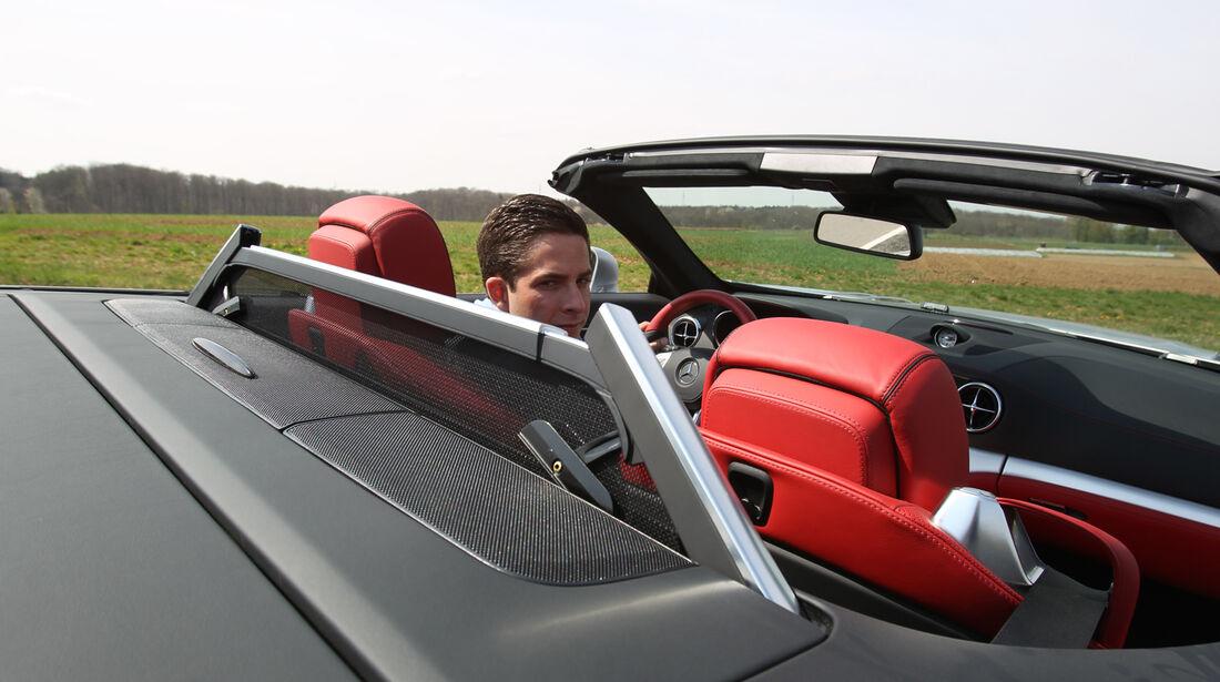 Mercedes SL 350, Windschott, Cockpit