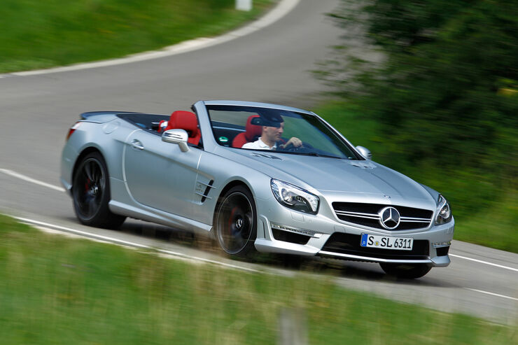 mercedes sl 63 amg im test rennstreckentauglich trotz. Black Bedroom Furniture Sets. Home Design Ideas