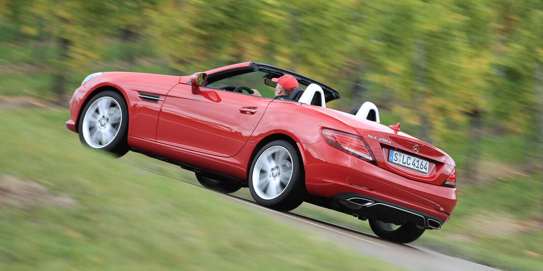 Mercedes SLC 250 d, Heckansicht