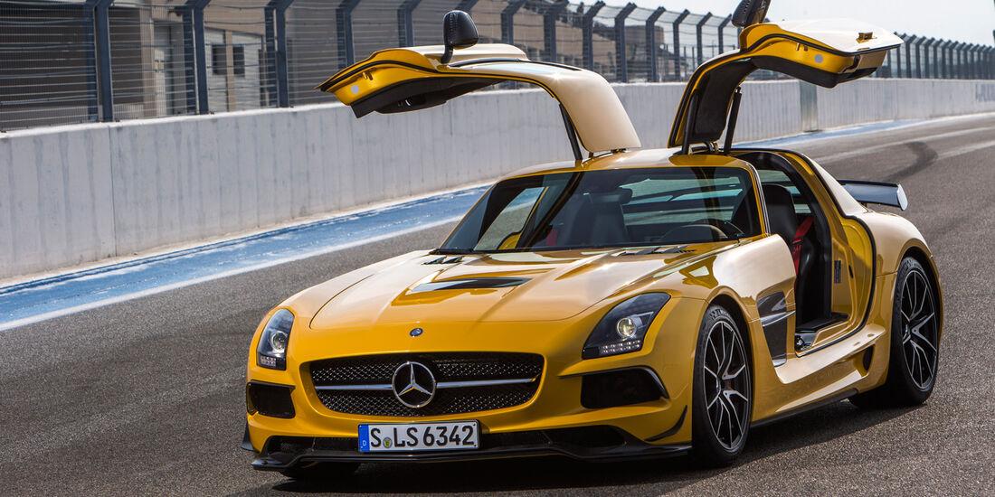 Mercedes SLS AMG Black Series, Frontansicht, Flügeltüren