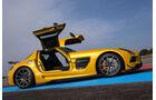 Mercedes SLS AMG Black Series, Seitenansicht, Flügeltüren