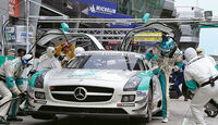 Mercedes SLS AMG GT3, Boxengasse, Stopp