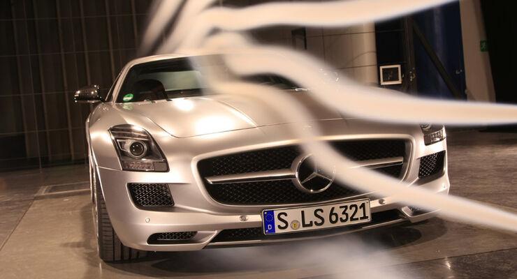 Mercedes SLS AMG Windkanal