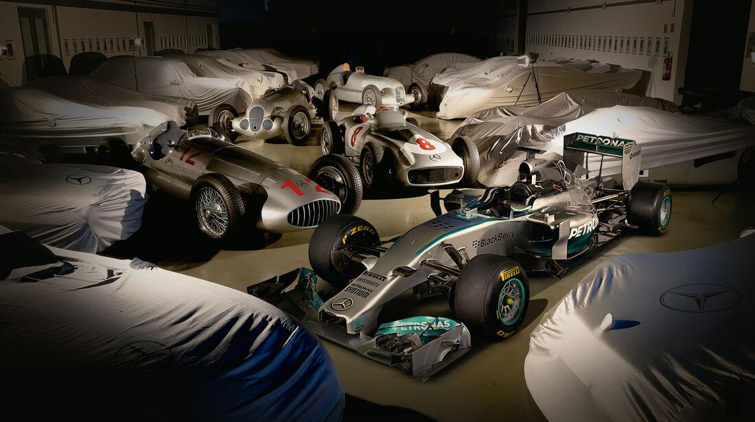 Mercedes-Silberpfeile, Verschiedene Modelle