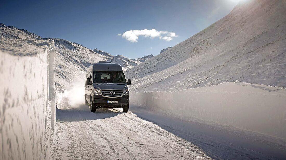 Mercedes Sprinter 4x4 Winter-Workshop Hochgurgl / Timmelsjoch