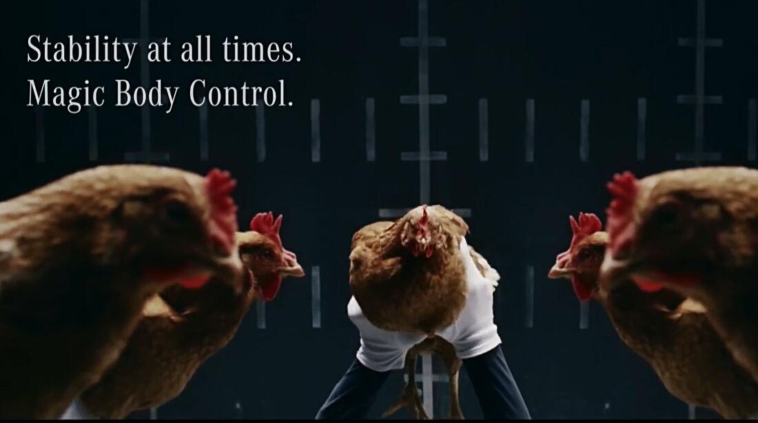 Mercedes TV-Werbung Hühner 2013