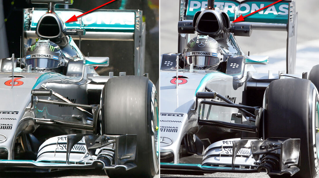 Mercedes - Technik - GP Spanien 2015