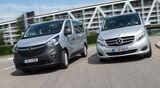 Mercedes V 220 d, Opel Vivaro Combi L1H1 1.6 CDTI Biturbo, Frontansicht