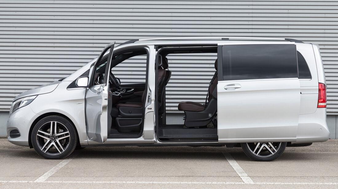 Mercedes V 250 Bluetec, Seitenansicht, Seitentür
