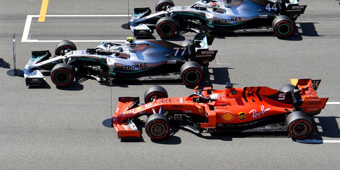 Mercedes vs Ferrari - GP Spanien 2019