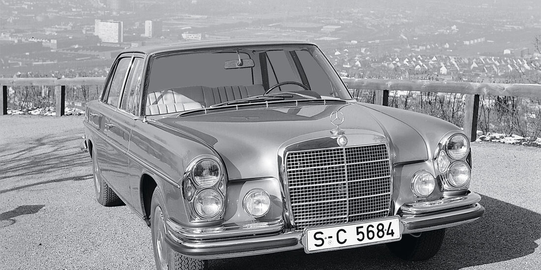 Mercedes300 SEL, Frontansicht