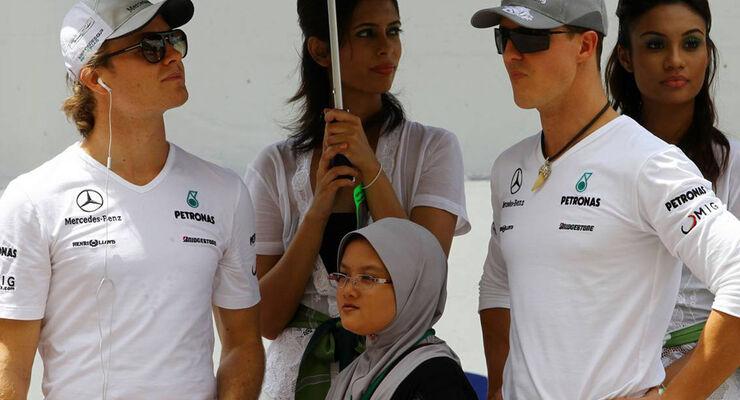 Michael Schumache & Nico Rosberg