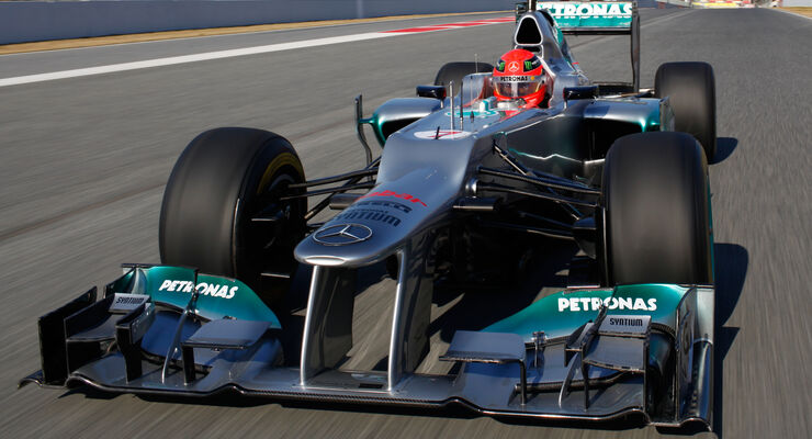Michael Schumacher Mercedes 2012
