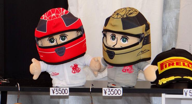 Michael Schumacher Puppen - Formel 1 - GP Japan - Suzuka - 4. Oktober 2012