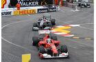Michael Schumacher und Fernando Alonso beim GP Monaco