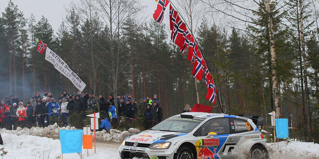 Mikkelsen, VW Polo R WRC, Rallye Schweden 2014