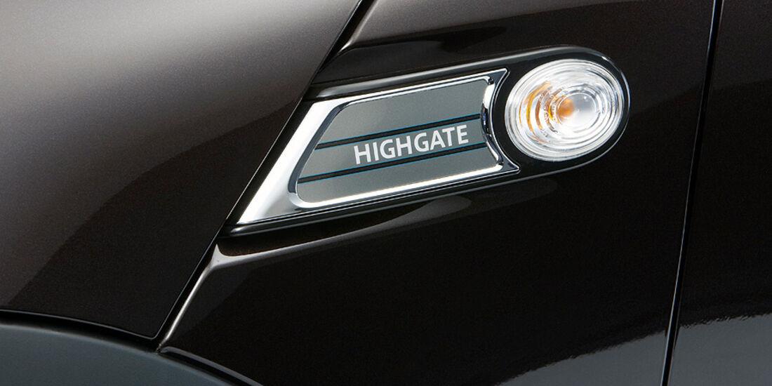 Mini Cabrio Highgate, Blinker