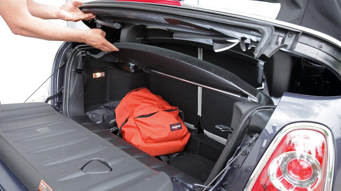 Mini Cabrio, Kofferraum