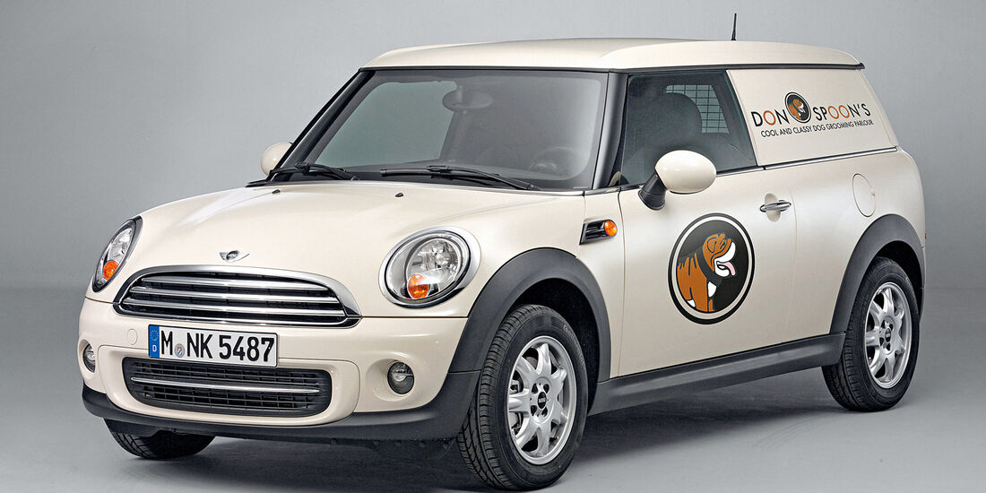 Mini Clubvan, Frontansicht