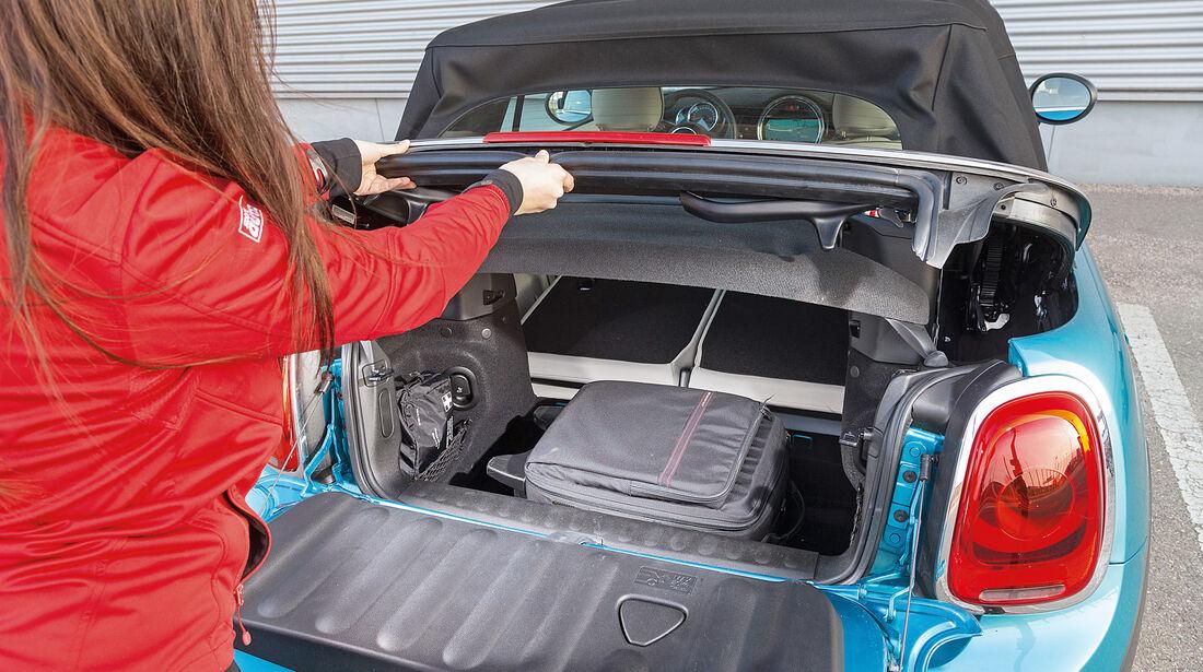 Mini Cooper Cabrio, Kofferraum