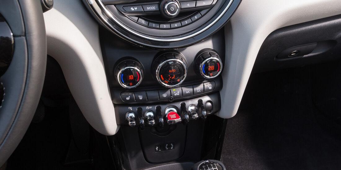 Mini Cooper Cabrio, Zentralinstrument, Mittelkonsole